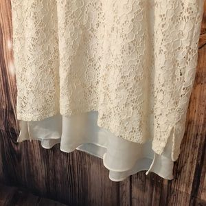 Style & Co Tops - White Lace Overlay Tank Top